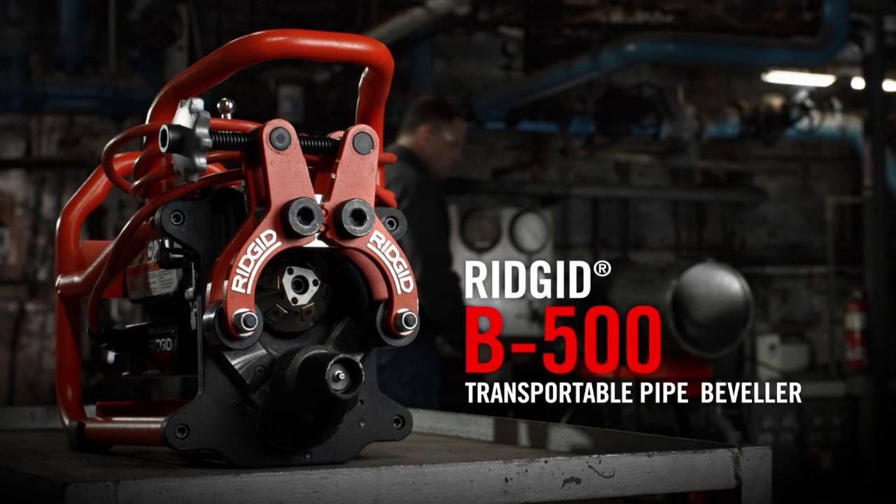 Ridgid – B-500 Transportable Pipe Beveller