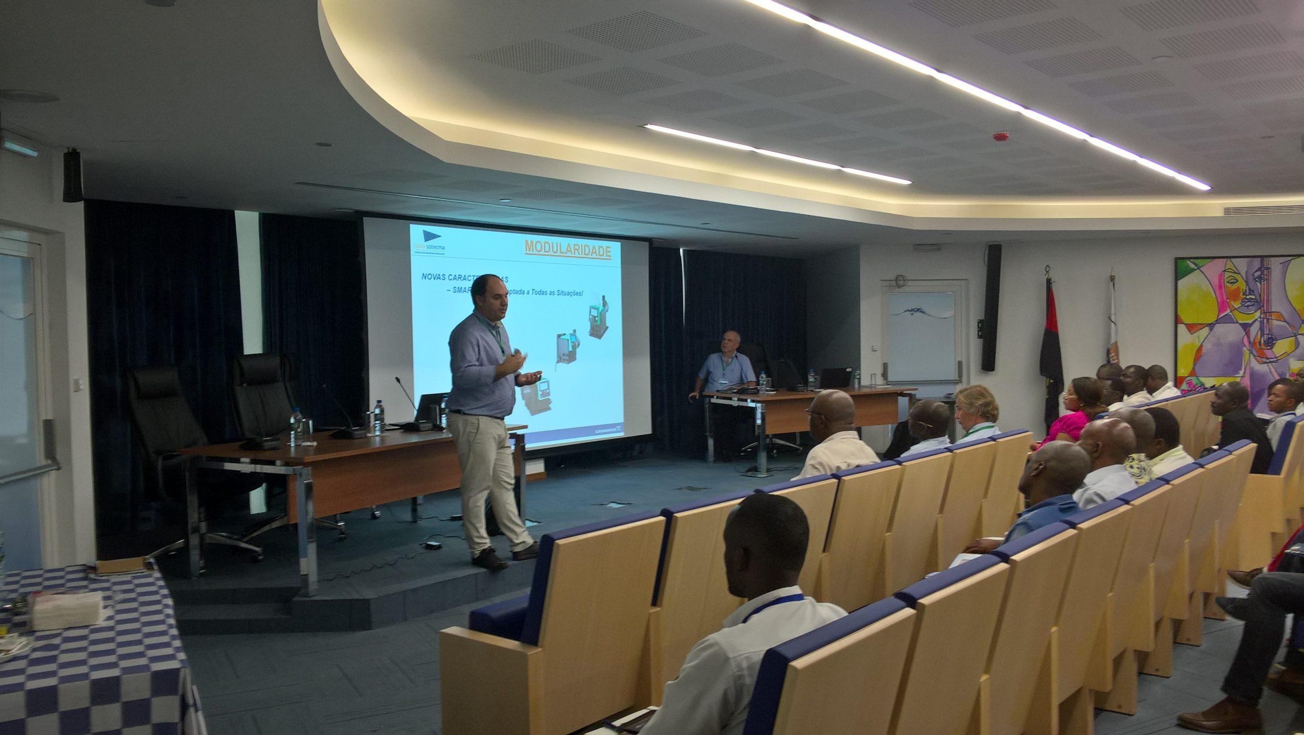 """Seminário """"Tratamento de Água – Soluções Grundfos"""" nas instalações da Epal promovido pela Nova Sotecma em parceria com a Grundfos"""